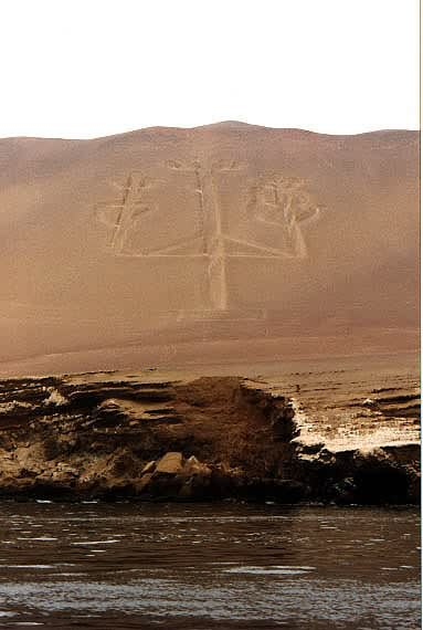 Earth-drawing on Paracas-peninsula